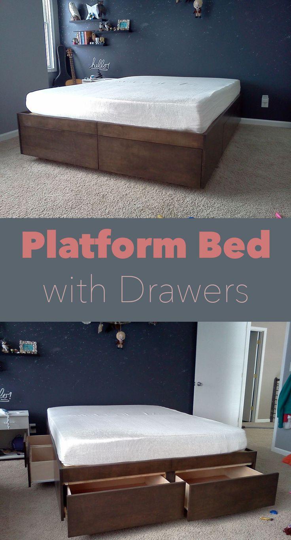Sofa bed with storage underneath - Best 25 Platform Bed With Drawers Ideas On Pinterest Platform Bed Storage Bed Frame Storage And Bed Frame With Drawers