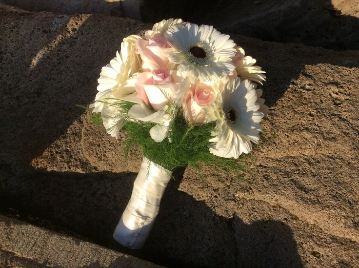 Bouquet In The Light Of A Leitrim Sunset Destination Donegal Ivory Gerbera And Lovely