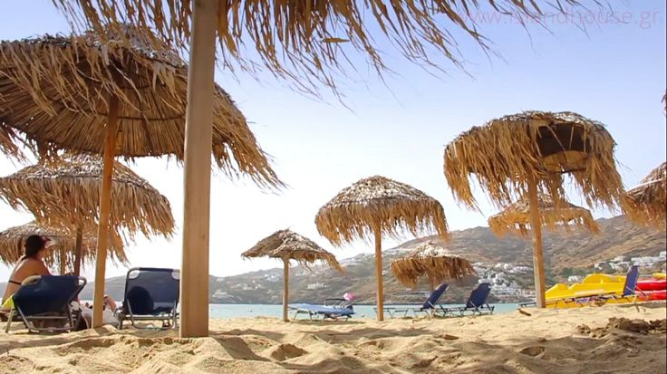 Beach life at Mylopotas, just a few meters from Island House Hotel & Island House Mare! http://www.islandhouse.gr/