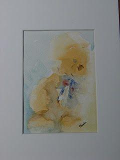 """Watercolors by Claudia: """"L'orsetto dal fiocco blu"""""""