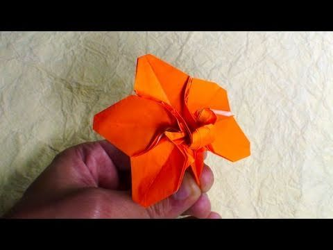 """Tutorial teaching how to make the orchid blossom by Robert J. Lang, as you can find in his book """"Origami Design Secrets""""    Video by Tadashi Mori:  http://www.facebook.com/TadashiOrigami"""