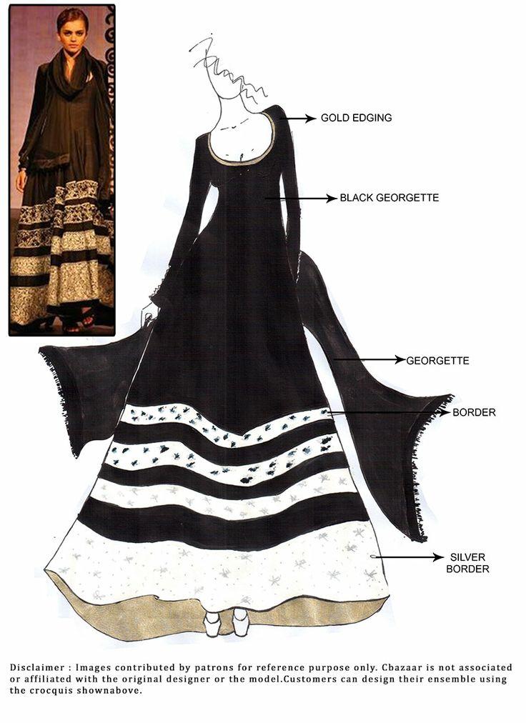 DIY #Georgette Floor Length #Anarkali Suit