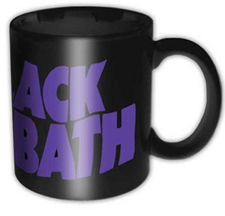 BLACK SABBATH Purple Logo Tea Coffee Mug Official Band Merch Ceramic New Boxed