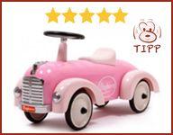 """Yeah, unser kleines Schlappilienchen hat ihr Traum-Bobbycar gefunden """"smile""""-Emoticon Wer noch sucht: die besten der niedlichen rosa Mädchen-Flitzer haben wir hier zusammengestellt:  http://www.meinbobbycar.de/bobby-car-rosa-beste-modelle/"""