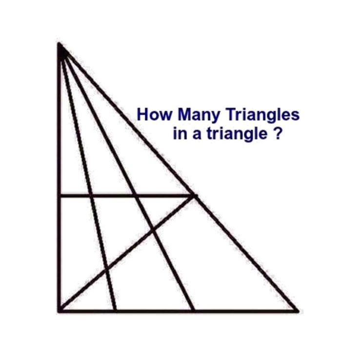 Train the brain. Can you tell how many triangles there are