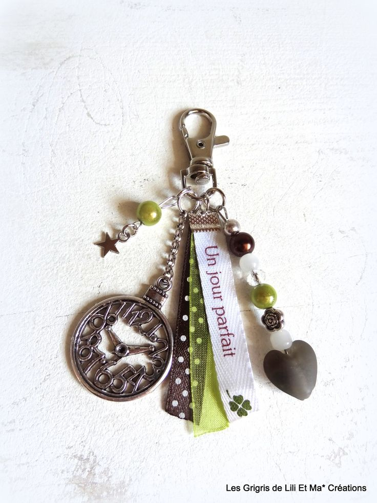 """Bijou de sac, grigri, Lili et Ma* Créations """"Un Jour Parfait"""" : Porte clés par lili-et-ma-creations"""