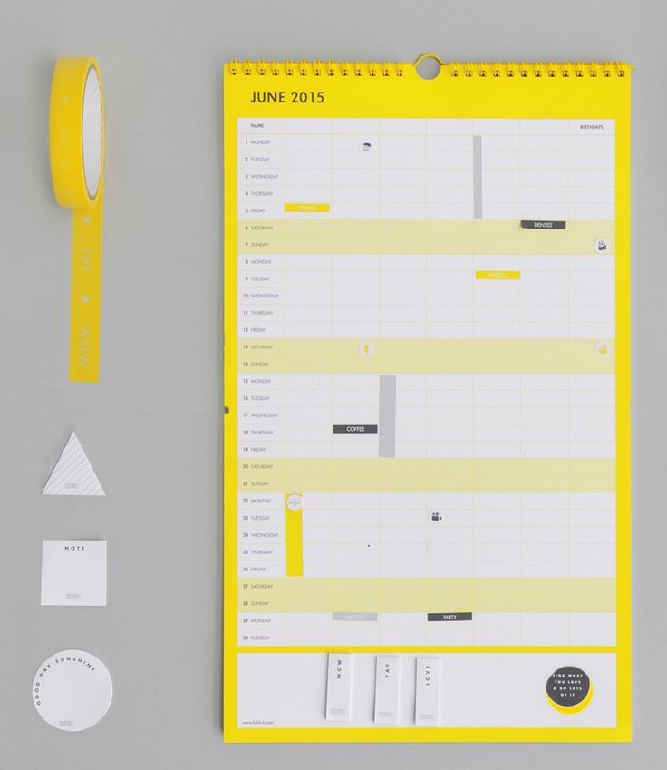 Family organisation gets easy with this gorgeous Hello Yellow Family Calendar. Manage the kids' schedules and get everyone involved!