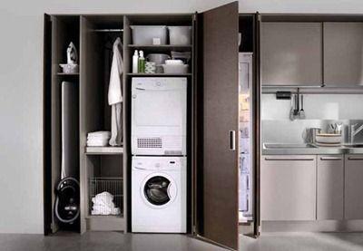 Lavado secreto para cu ndo la imagen un tanto grotesca de la lavadora molesta en un espacio m s - Armario para lavadora ...