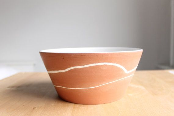 Rustic modern collection White and Terracota by BiscuitCuit