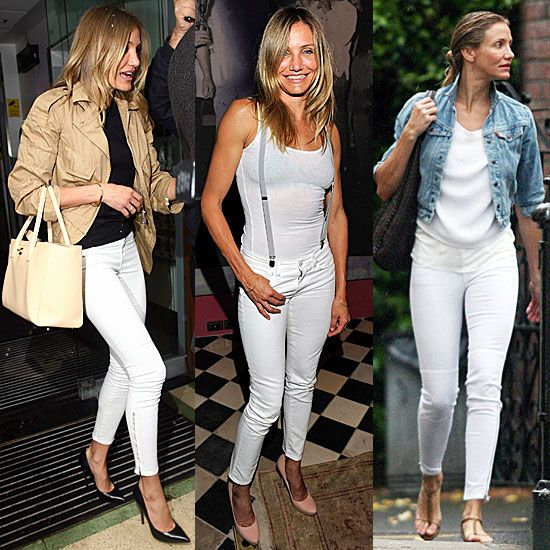Good Jeans: Cameron Diaz Styles Out Her White Denim