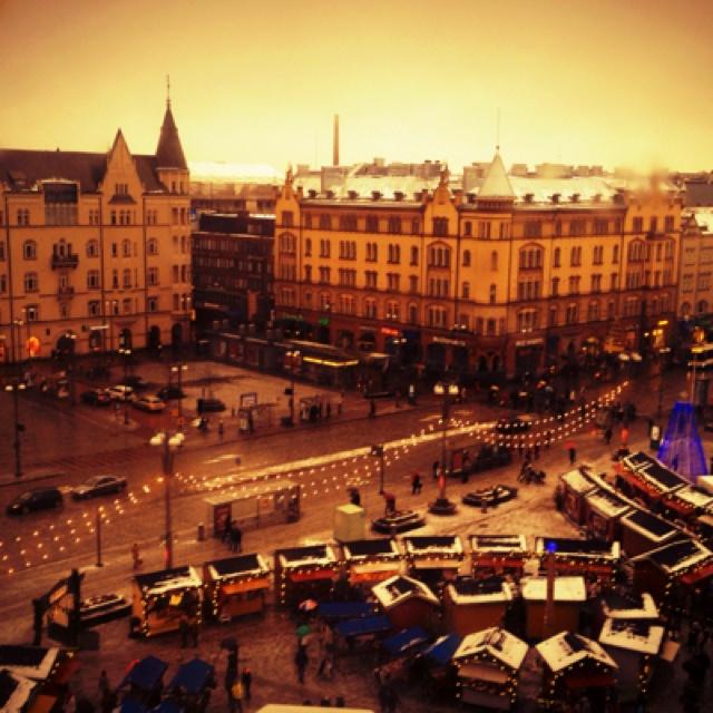 Center of Tampere in December.