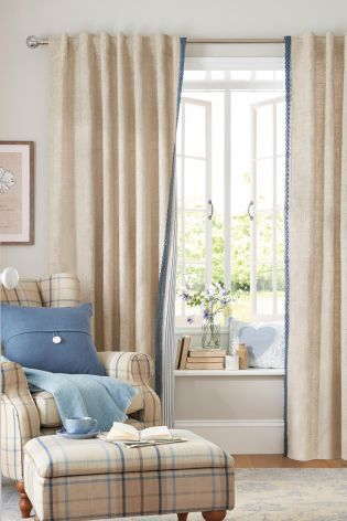 Buy Crochet Leading Edge Hidden Tab Curtains from the Next UK online shop