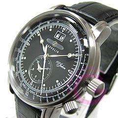 Zeppelin (ツェッペリン) 76402/7640-2 ツェッペリン号誕生100周年記念モデル デュアルタイム ドイツ メンズウォッチ 腕時計