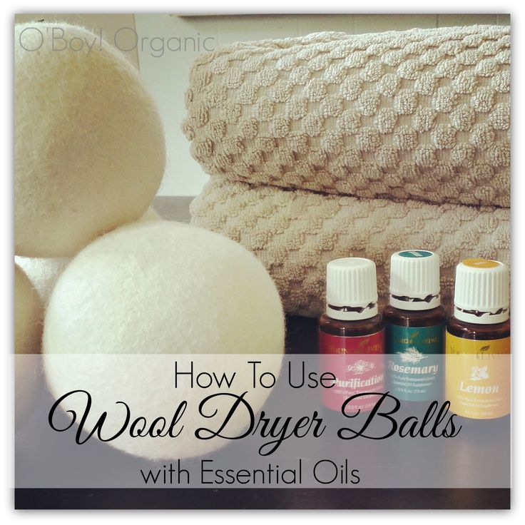 You can add some natural scent to your wool dryer balls if you miss the smell of dryer sheets.
