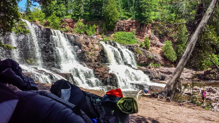 Gooseberry Falls is found on one of the more popular sections of the SHT.