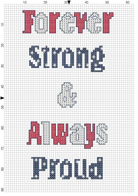 Free Patriotic Cross Stitch Pattern - Support USA #usa #crossstitch #free