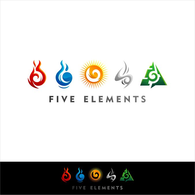 Create logo for the 5 elements in modern tribal adventure stile by bayuRIP