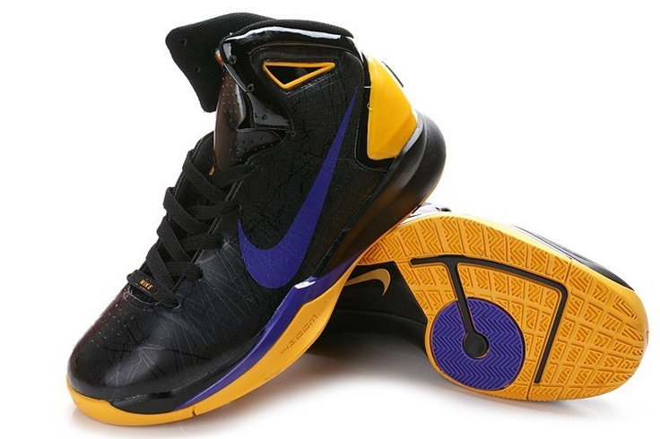 reputable site c0b35 7b6a7 Nike Hyperdunk 2010 Mens Basketball Shoes - Black Yellow Purple http