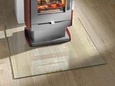 Plaque de sol pour poele et cheminée, en verre trempé clair ou fumé, protection des sols inflammables