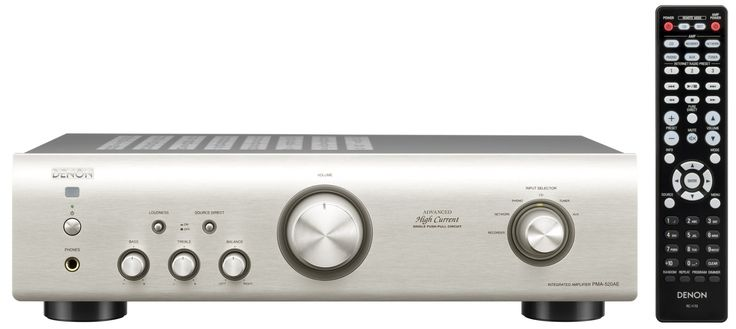 Denon PMA520AE Integrated Amplifier - Silver - £134
