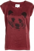 T-shirt - Silk Tee w. Bear Print