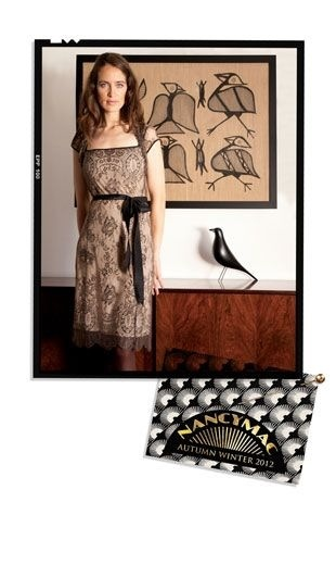 Call it Soft black, Moth or liquorice the new black lace dress from Nancy Mac is simply delicious .
