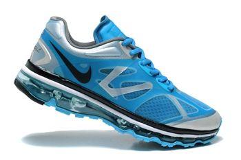 Nike Air Max 2012 Mens Light Blue Sliver Running Shoe
