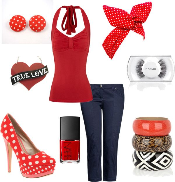 """Modern Pin Up"" by linzrebecca ❤ liked on Polyvore"