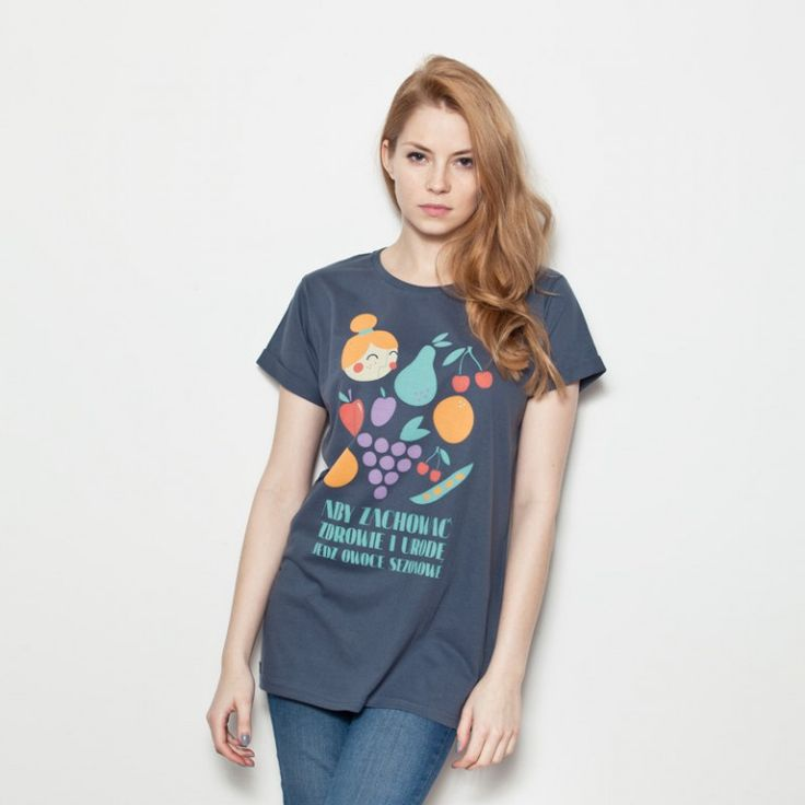 Pewex Owoce Szary - K115 - Koszulki - sklep Pewex