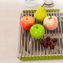 Nieuwe 1 Stks Groen Roze Sink Opslag Schotel Droogrek Houder Fruit Groente Afdruiprek Colanders Keuken Accessoires & BL11(China (Mainland))