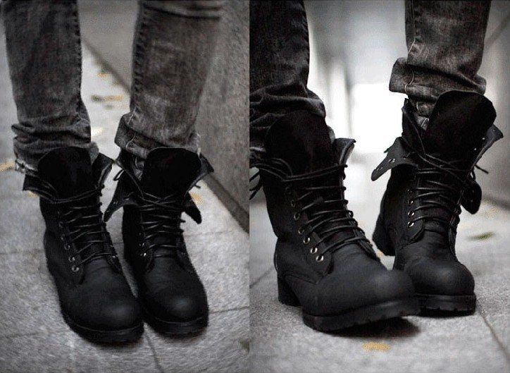 Fashion Men's Outdoor lace up half western Motorcycle Army ...