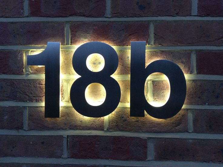 Our latest design solution for a LED back-lit house number based on the Helvetica typeface perfectly installed by a discerning customer.