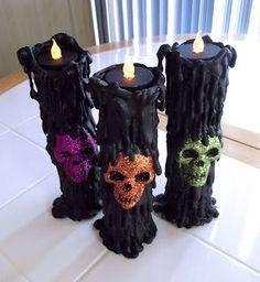 Como hacer velas con calaveras para decorar la casa en Halloween