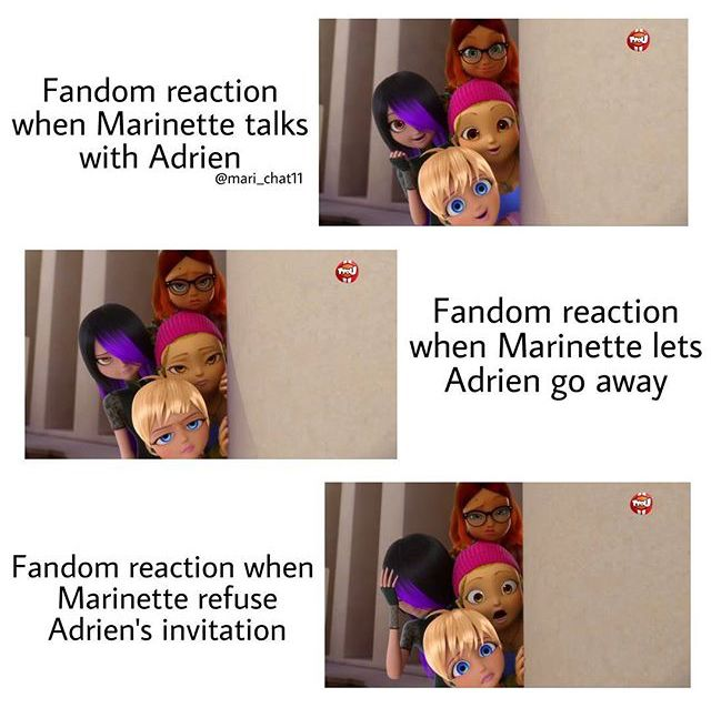 True, and the best and most true part about this episode is when Amya is just like Marionette likes Adrien and they say it's obvious. Marionette gets worked and asks if they think Adrien knows and they say no, boys never pick up on those things