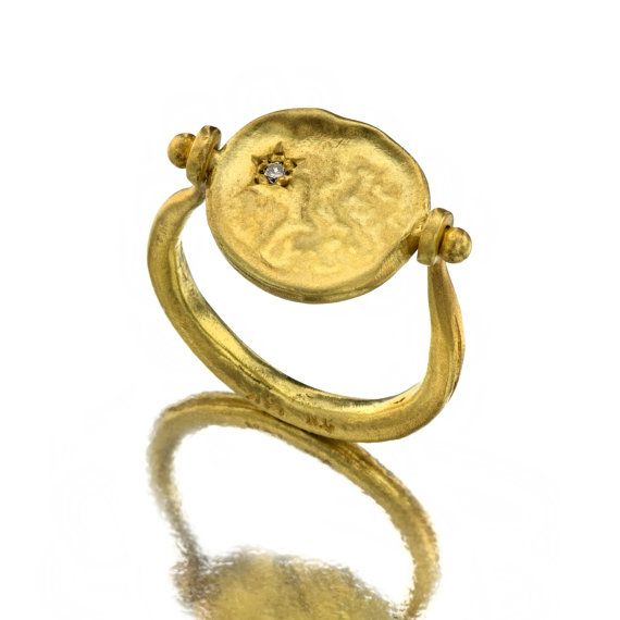 coin ring 18k gold diamond ring by nogaseeds