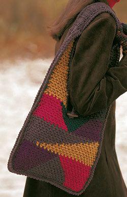 Shetland chunky -patchwork purse crochet pattern: Patchwork Pur, Crochet Bags, Free Crochet, Crochet Pur, Crochet Free Patterns, Crochet Patchwork, Crochet Patterns, Bold Colors, Patchwork Bags