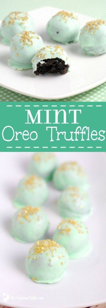 Mint Oreo Truffle Recipe. See 15 Must-try mint dessert recipes on www.prettymyparty....