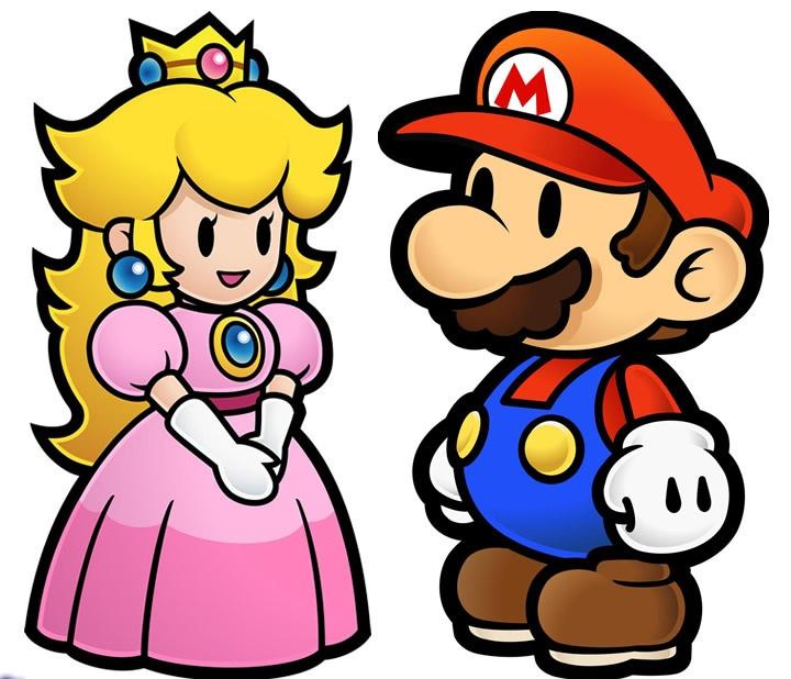 Mário e a Princesa no estilo em paper Mário. Confira também Jogos do Mário (Online & Grátis) em: http://www.jogoson.com.br/jogos-do-mario/