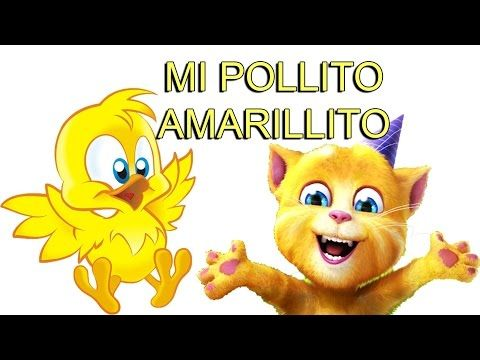 Pollito Amarillo Cancion Infantil - Videos Infantiles Gato Canciones de la Granja - YouTube