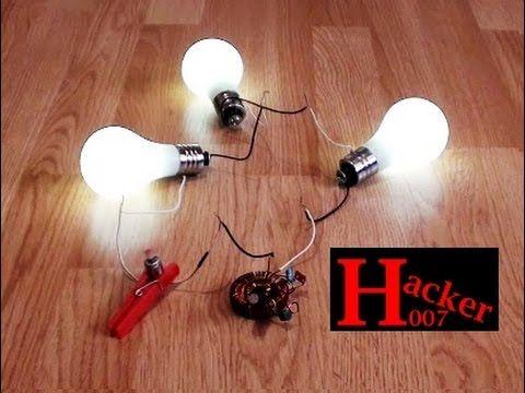 "Free Energy Generator For 3 Light Bulbs. Amazing Perpetual ""Free Energy""..."
