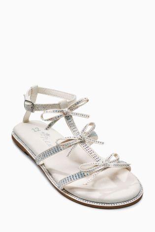 Kúpiť Sandále ozdobené s mašľou (Staršie dievčatá) Dnes online na Next: Slovensko