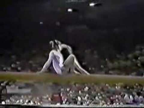 Nadia Comaneci scoring a perfect 10 and winning 3 golds at the 1976 Olympics