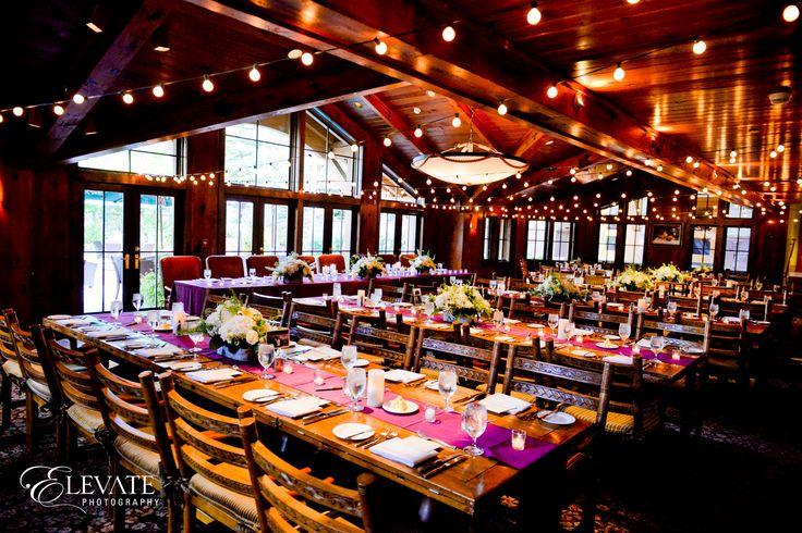 Beautiful rustic elegance wedding reception at Cucina at The Lodge at Vail #mountainwedding #vailwedding #uniqueweddingvenue #vailmountain #thelodgeatvail