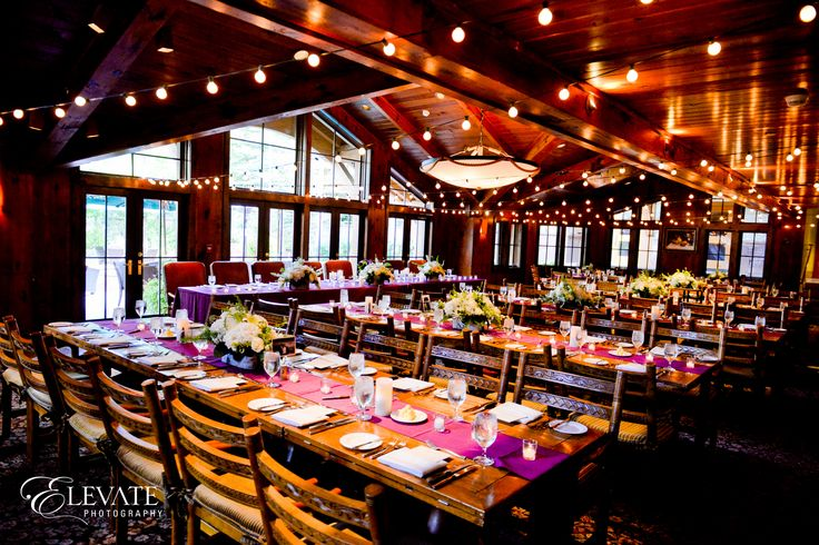 Beautiful rustic elegance wedding reception at Cucina at The Lodge at Vail #mountainwedding #vailwedding #uniqueweddingvenue #vailmountain #thelodgeatvail