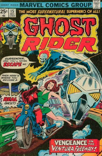 Cover for Ghost Rider (Marvel, 1973 series) #15 December 1975