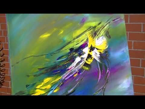 Abstract Painting Demonstration Abstrakte Acrylmalerei Bumblebee at Springtime - YouTube