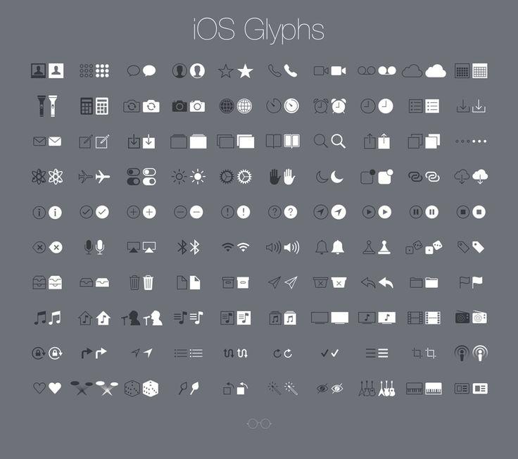 iOS Glyphs, #Free, #Glyphs, #Graphic #Design, #Icon, #iOS, #iOS7, #iPhone, #PNG, #Resource, #Retina