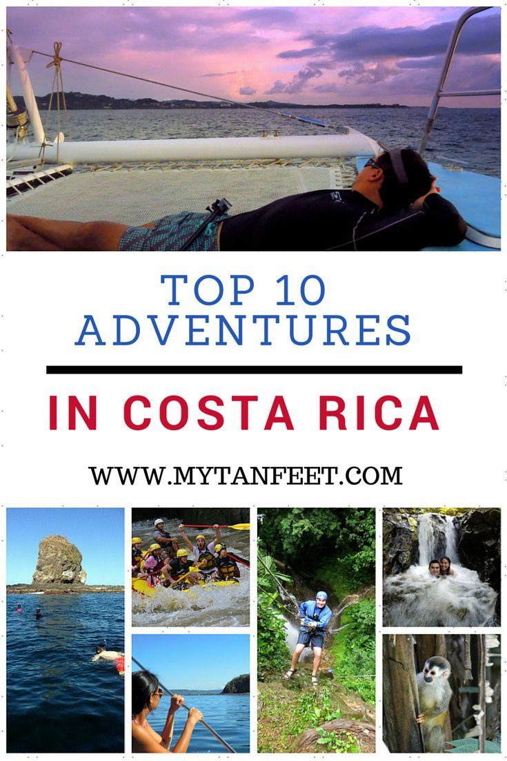 Costa Rica is full of outdoor adventure, here is our list of the top 10 adventure activities http://mytanfeet.com/activities/adventure-activities-in-costa-rica/