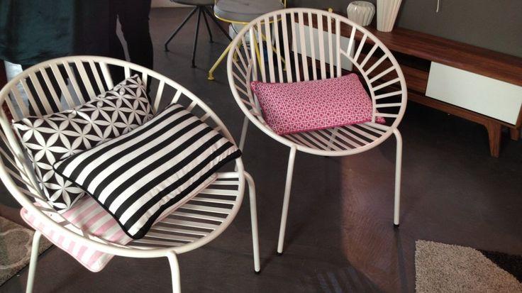 chaise en métal blanc conforama confo deco