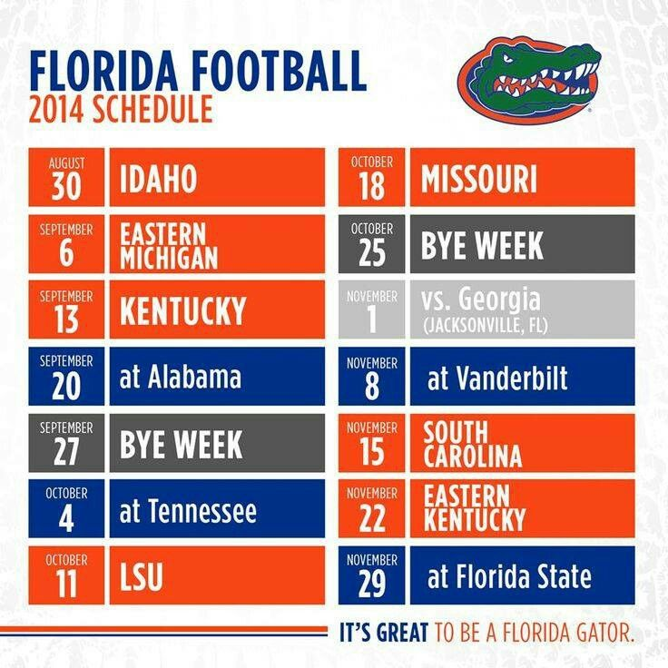 Go Gators! We can't wait for the 2014 Football Season. #Gainesville #GNVFL #Gators